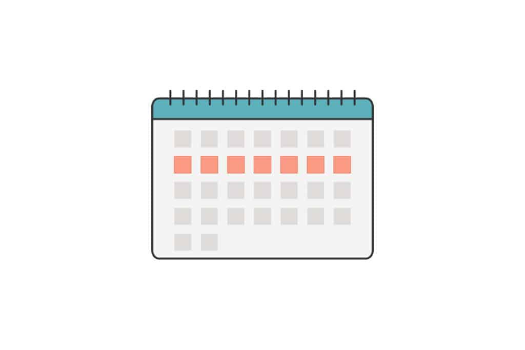 Abbildung eines Kalenders